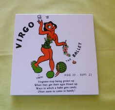 """Mid Century Conversational Tile: """"Virgo-The Ballet"""" by BackToThe60s on Etsy"""