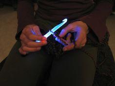 Needlite lighted crochet hooks and knitting needles.  Geeky!  Yet practical!