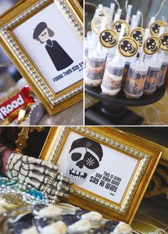 """{Pirate Themed} GOONIES Party with sloth cake pops, Baby Ruth bars, Rocky Road cupcakes, power pinchers and """"Hey you guys! Goonies Party, Os Goonies, Pirate Theme, Pirate Party, Birthday Party Themes, Boy Birthday, Pirate Birthday, Halloween Party, Halloween Stuff"""