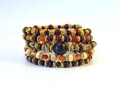 Red Salt coil bracelet by Lumibon