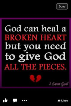 Give it ALL to God! And He takes care of the rest.