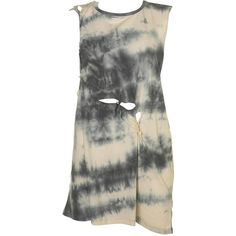 Tie Dye Plait Tee By Boutique (€27) ❤ liked on Polyvore featuring tops, dresses, shirts, tanks, cotton shirts, tie dyed shirts, tye dye shirts, tie dye tank tops and woven cotton shirt