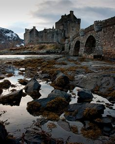 Eilean Donan Castle - Scotland; At the confluence of Loch Duich, Loch Long and Loch Alsh . by pboehi, via Flickr