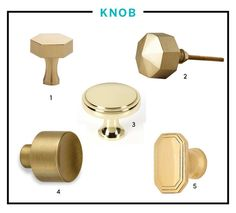 All About That Brass: A Kitchen Hardware Shopping Guide