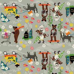 Caravan Car Pool in Grey Patchwork Fabric, Caravan, Fabric Weights, Fabrics, Snoopy, Kids Rugs, Grey, Pattern, Tejidos