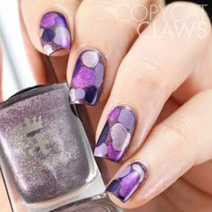 Purple Blobbicure Nails
