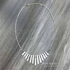 White & Silver Necklace with Natural Howlite and Swarovski Crystals