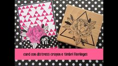 Flower Card with distress crayon and Florilges stamps