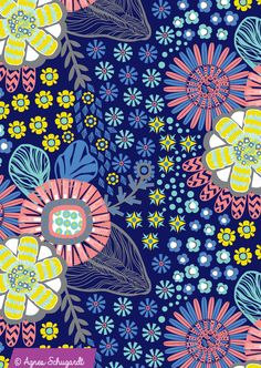 Floral Print By Agnes Schugardt