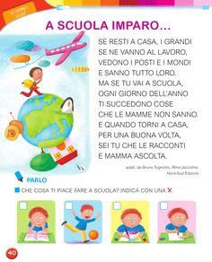 Matita e gomma 1 - Letture Italian Language, Learning Italian, Homeschool, Winter Time, Speech Language Therapy, Autism, Classroom, Learn Italian Language