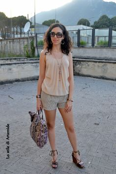 #outfit #shorts #neutral colors