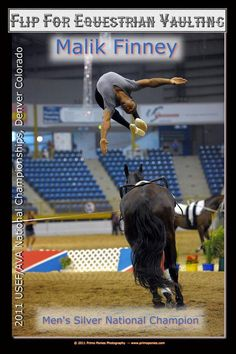 Malik Finney, U.S. Mens Silver National Champion on Mon Coer (Mike the Vaulting Horse), Top 10 AVA Horse of the Year 2011.