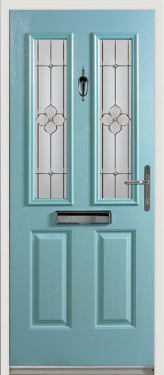 'Etna' solid core composite door with our popular Spring glass design.