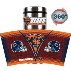 Chicago Bears Gameball Travel Tumbler