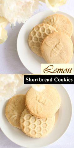 Lemon Shortbread Cookies #Cookiesrecipes Healthy Cookie Recipes, Oatmeal Cookie Recipes, Peanut Butter Cookie Recipe, Sugar Cookies Recipe, Cookie Desserts, Dessert Recipes, Citrus Recipes, Sweet Recipes, Yummy Recipes