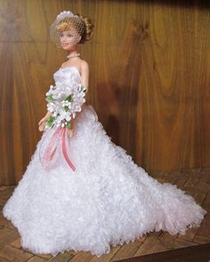 Bride Barbie from Sew Dolled Up: Ruffled Wedding Dress