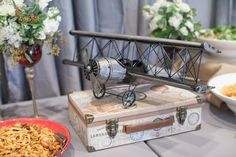 Hostess with the Mostess® - Vintage Airplane Around The World 1st Birthday Party