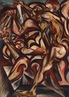 Man with Knife, 1940 by Jackson Pollock, Early works. Abstract Expressionism. figurative. Tate Britain, London, England, UK