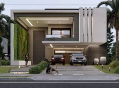 Top modern house design ideas for 2020 Best Modern House Design, Modern Villa Design, Bungalow House Design, House Front Design, Modern House Plans, Facade Design, Exterior Design, Modern Architecture House, Architecture Design
