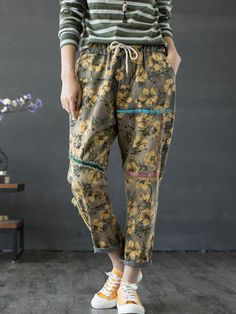 9e72cae3e8a Floral Print Patchwork Drawstring Women Vintage Denim is a trendy, Newchic  provides wide range of best cheap Denim & Jeans for you.