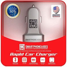Best USB Car Charger  Rapid 3 Port Micro USB GUARANTEED to work for Iphone 6 Plus 5c 5s 4s 4 Ipad Air 432 with High Output of 51a255w for Android 4 GPS Ipad Air 432 Ipod Touch Mini Flex HTC One Max M8 M7 E8 Tablet Galaxy Note 2 3 4 S5 S4 S3 S2 and Universal for All Gaming Devices ** You can get more details by clicking on the affiliate link Amazon.com.