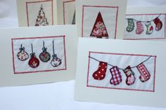 freehand embroidered cards