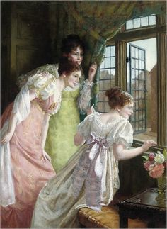 Mary E. Harding (active 1880-1903) - The squire's arrival