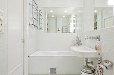 mosaïque blanche de salle de bain