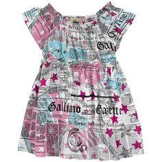 John Galliano Kids - Stretch viscose jersey dress - Gazette print - 112144