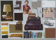 moodboard opdracht 10 interieurstyling, Bibliotheekkamer