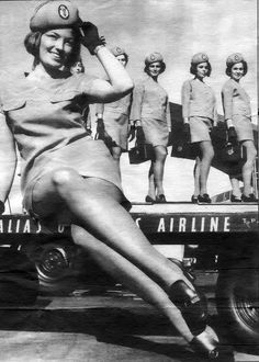 P-50 Flight Attendants #anekdotique #vintage #airhostess #stewardess #goldenage #airline #fashion #style