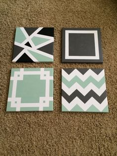 Diy Painted Canvases Painters Tape Art Painting Canvas