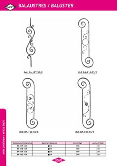Serie FORJA ARTÍSTICA   Artistic Wrought Iron