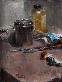 "Daily Paintworks - ""artists tools"" - Original Fine Art for Sale - © Taisia Kuklina"