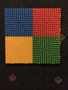 Hama beads square of colours 2