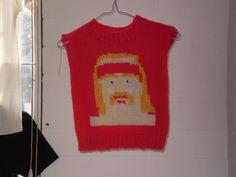 I would wear this any day of the week. #knit #knitting #waybackhack #knithacker #hulkhogan
