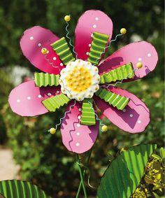 Look at this #zulilyfind! Pink Flower Garden Stake #zulilyfinds