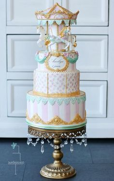 EDITOR'S CHOICE (03/09/2015) Vintage Carousel Cake by Tamara View details here: http://cakesdecor.com/cakes/185446-vintage-carousel-cake