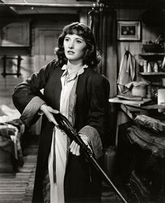"Barbara Stanwyck in ""Union Pacific"" (1939)."
