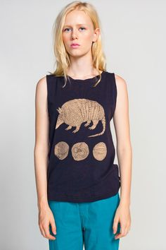 "Armadillo t shirt. Something Else ""Extinction Sux"" Tee"