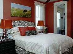 Western Bedroom Decorating Ideas, There are a lot of beautiful styles and designs of Western Bedroom Decorating Ideas. By choosing the western bedroom decorating ideas, you can feature your bedroom f Small Master Bedroom, Bedroom Red, Master Bedroom Design, Bedroom Colors, Home Bedroom, Spa Bedroom, Bedroom Decorating Tips, Mobile Home Decorating, Decoration Bedroom