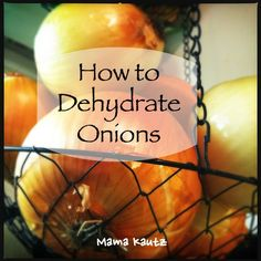How to Dehydrate Onions for Long Term Food Storage