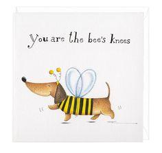 Bees Knees Dachshund Greeting Card