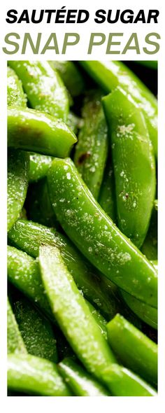 Sauteed Sugar Snap Peas—need another vegetable with dinner? These suger snap peas are so delicious and super easy to make! Toss these sugar snap peas together in only 5 minutes! Fresh, crunchy sugar snap peas perfectly sautéed in oil and butter… nothing better! #snappeas #veggies #vegetables #healthyrecipes