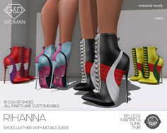 EXCLUSIVE @ HAUS OF SWAG start 21th october 1 PM SLT! TAXI: http://maps.secondlife.com/secondlife/Heatherlands/128/38/28 shoes leather with details suede  18 color customizable with hud