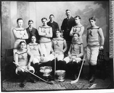 Shamrock hockey team, Montreal, QC, 1899 by Musée McCord Museum. Montreal Canadiens, Montreal Qc, Hockey Games, Ice Hockey, Olympic Hockey, Hockey Players, Nhl, Hockey Hall Of Fame, Cup Games