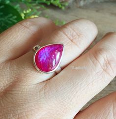 Hey, I found this really awesome Etsy listing at https://www.etsy.com/listing/197352167/pink-rainbow-moonstone-ring-cabochon