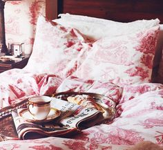 cozy pink bedding