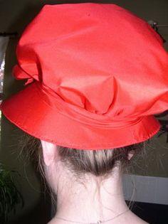 A Red Silk Capote tutorial - Regency era!