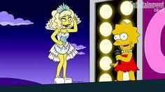 """Ela vai usar 18 looks no episódio """"Lisa Goes Gaga"""". Este é só o primeiro!  (Lady Gaga)"""
